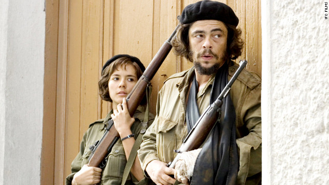 "Benicio del Toro portrayed Cuban revolutionary Che Guevara in the two-part biopic ""Che."" He went on to win the best actor award at the Cannes Film Festival in 2008."