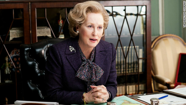 Meryl Streep portrays Margaret Thatcher in