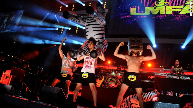 Blaze brings abrupt end to LMFAO show
