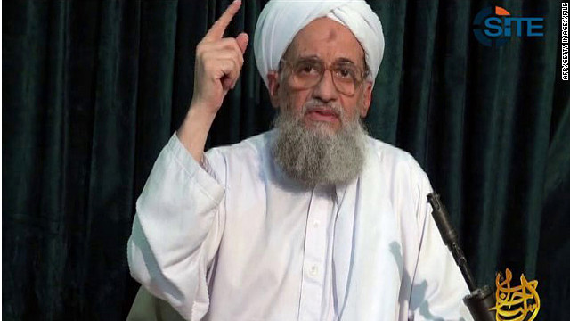 A Site Intelligence Group image of Al-Qaeda leader Ayman al-Zawahiri from video released August 15, 2011. 