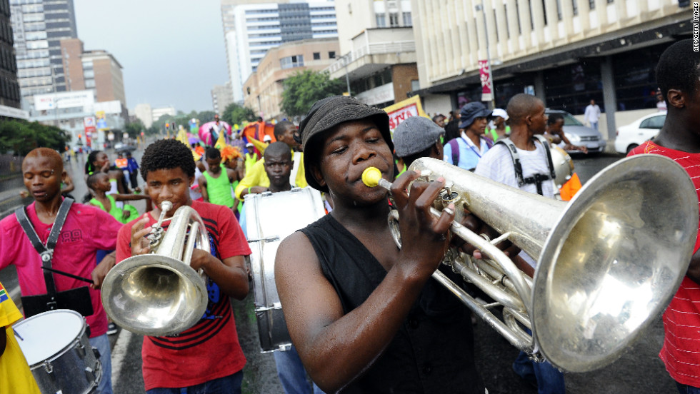 Parade in Johannesburg