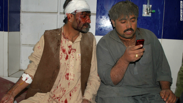 An explosion outside the home of a former lawmaker in Quetta killed 13 people and injured several others on December 30, 2011.