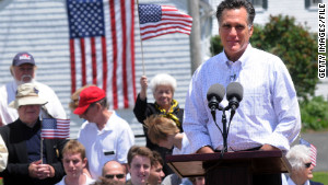 Mitt Romney announces in Stratham, New Hampshire, in June that he\'s running for the GOP nomination.