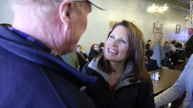 Michele Bachmann talks about her faith while campaigning in Corning, Iowa, in the last days days before the Iowa caucuses.