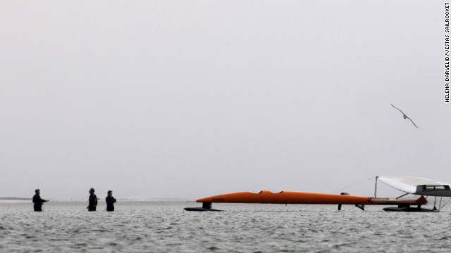 The team is aiming for the world speed sailing record, which is currently held by American kite surfer Rob Douglas, who has reached 55.65 knots over 500 meters.