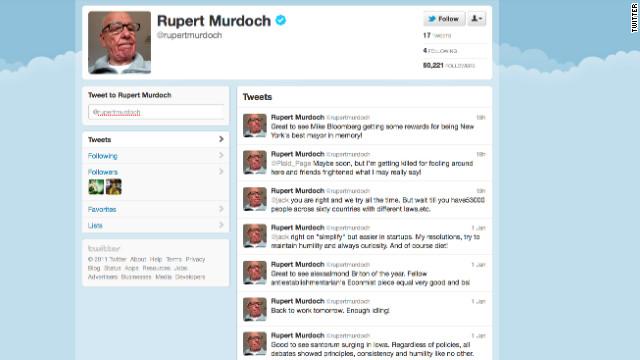 El magnate de los medios, Rupert Murdoch, abre cuenta en Twitter