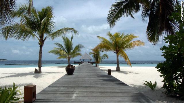 A view of Coco Palm spa resort in the Maldives, a popular luxury resort destination in political turmoil.