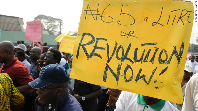 Fuel-price protests in Nigeria
