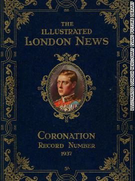 "The painting was commissioned for a coronation issue of ""The Illustrated London News,"" which was never released. A proof copy of the publication -- thought to be the only one in existence -- was recently rediscovered."