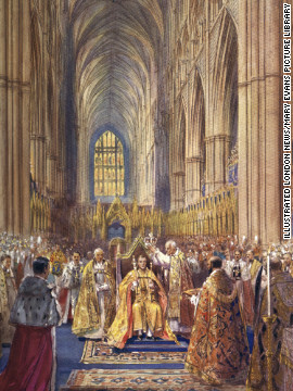 "The periodical contains ""historical"" paintings of the coronation itself, which never took place."