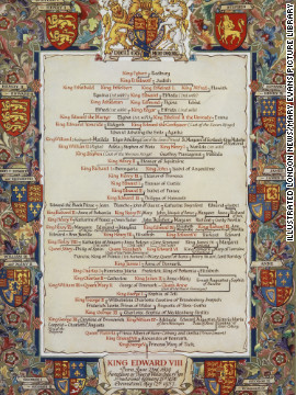 "It also includes details of the ""Line of Succession"" showing Edward VIII as King."