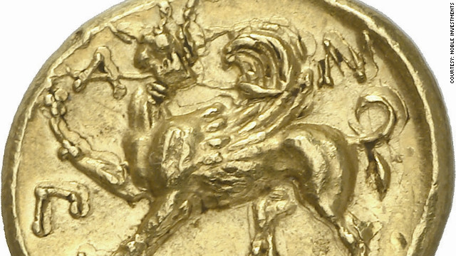 Hill says the coin, which also features the figure of a winged griffin, is &quot;one of the masterpieces of ancient Greek art.&quot; The entire collection is expected to sell for $8m.