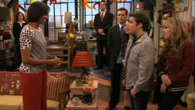 Michelle Obama shows off dance moves on 'iCarly'