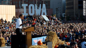 Barack Obama\'s surprise victory in the Iowa caucuses four years ago started him toward his Democratic presidential nomination in 2008.