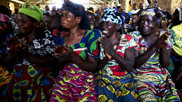 Women of Kampala, Congo, meet with U.N. representatives to discuss sexual violence. More than 300 women were raped in Kampala by rebel forces in 2010.