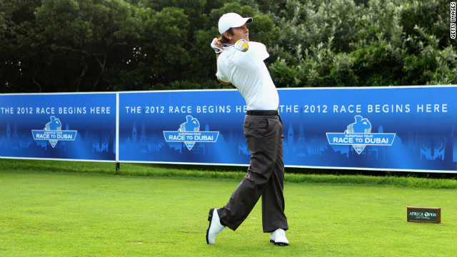 Thomas Aiken has started the 2012 Race to Dubai in fine form with an opening 64 at the Africa Open.
