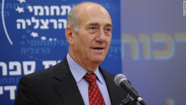 Ehud Olmert became Israel's prime minister in 2006, succeeding Ariel Sharon who suffered a massive stroke (file photo).