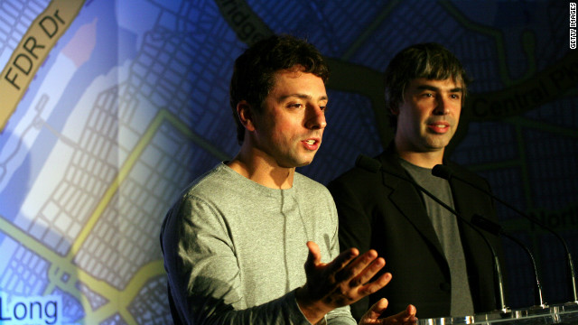 Google's Sergey Brin, left, says SOPA would put the U.S. 