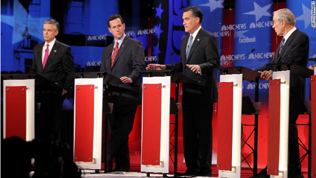 Todd Graham says that Mitt Romney, third from left, has mastered the art of taking a punch and then hitting back.