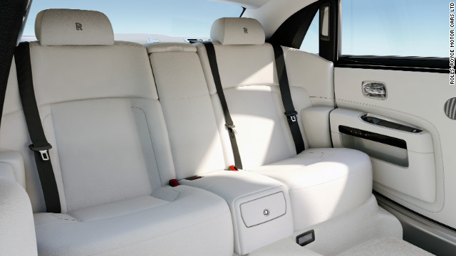Rolls-Royces continue to be hand-built. A shot of the interior of a Ghost model shows what £200,000 buys you.