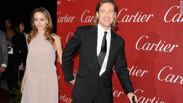 Angelina Jolie and Brad Pitt attend the Palm Springs Film Festival awards gala.