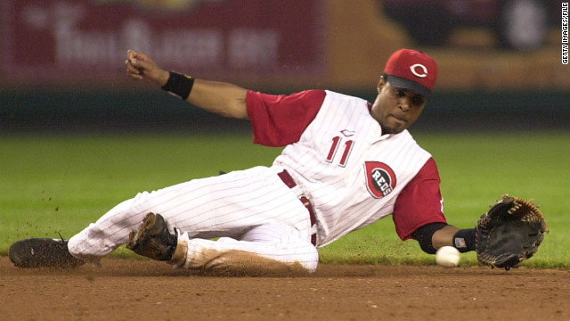 Barry Larkin, 47, spent his entire career in Cincinnati and was part of the Reds team that won the World Series in 1990.