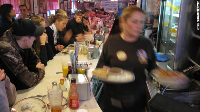 Pancakes and politics &#8211; the finer points of the diner meet and greet