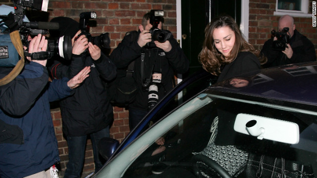 Kate became the subject of huge media attention -- she is seen here surrounded by photographers on her 25th birthday, January 9, 2007 -- but she and William broke up the same year.
