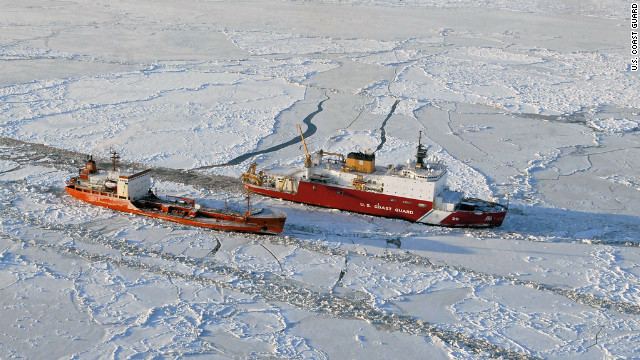 Coast Guard breaks ice for tanker