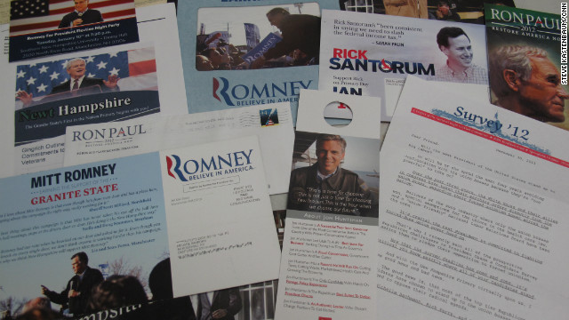 Registered voters in New Hampshire have been inundated with mass mailings from the GOP presidential candidates.