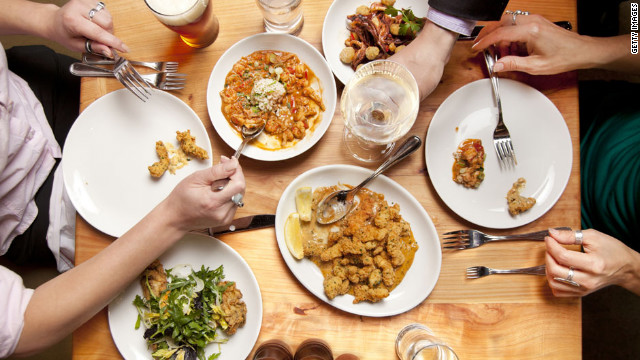 People tend to consume more calories and fat in restaurants than they do when eating at home, studies suggest.