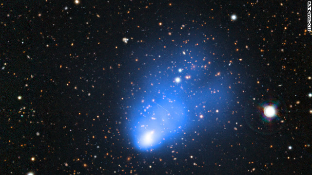 'Fat' galaxy cluster discovered 7 billion light-years away