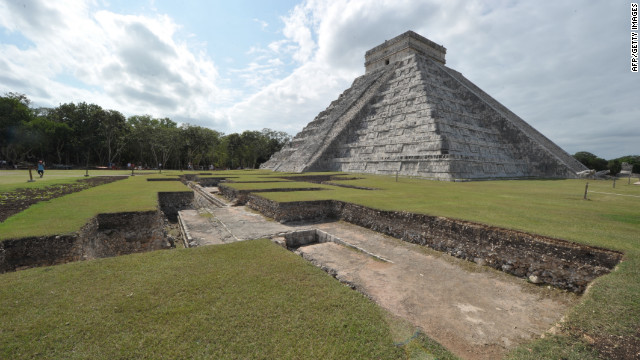 Chichen Itza is a key archaeological site in Mexico, a blend of Maya and Toltec architectural styles. Pictured is the Kukulcan temple, also known as El Castillo (The Castle).