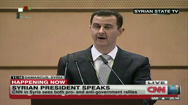 Al-Assad blames 'external conspiracies' for Syrian violence