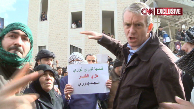 A rare glimpse inside pro- and anti-government protests in Syria