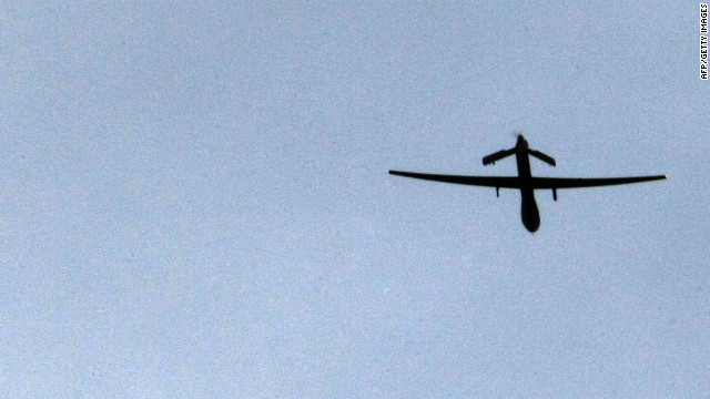 A suspected U.S. drone fired missiles at two vehicles in North Waziristan killing at least eight militants.