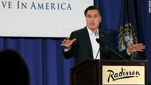 A remark Mitt Romney made in a Monday speech in Nashua, New Hampshire, quickly became controversial.