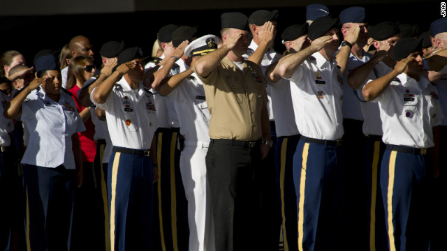 In Hawaii - JPAC's home -- military personnel salute the unidentified remains of a fallen American service member returning to U.S. soil. Arrival ceremonies are held to honor the sacrifices made by the individuals whose remains were recovered during JPAC recovery missions.
