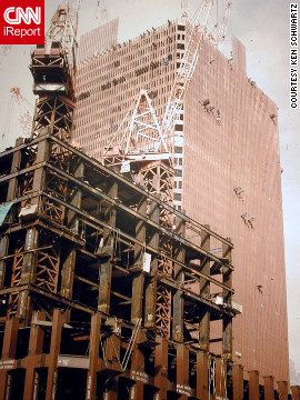 Ken Schwarz visited the World Trade Center construction site several times in 1969-70 and took photos with his 1969 Nikkormat FTn SLR and Kodachrome 25 color slide film.