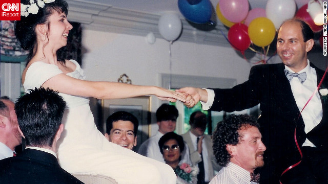 """Kodak captured the joy of my daughter's traditional Jewish wedding (in 1994) when she and her new husband were carried aloft by guests,"" Linda Woodward said. <a href='http://ireport.cnn.com/topics/726798'>See more Kodak moments on CNN iReport.</a>"