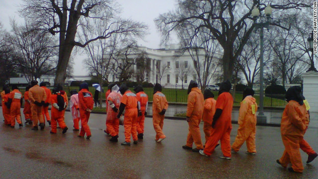 Activists At Rally Call On Obama To keep Promise, shutter Guantanamo Bay