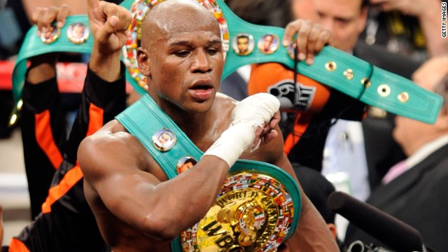 American boxer Floyd Mayweather Jr. has won all 42 of his professional fights, 26 by knockout.