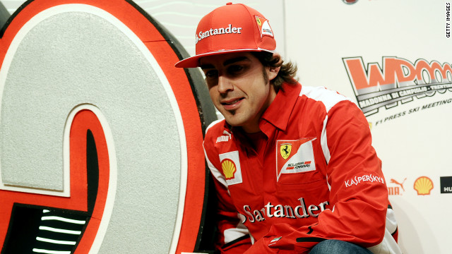 Ferrari's Fernando Alonso was crowned Formula One world champion in 2005 and 2006.