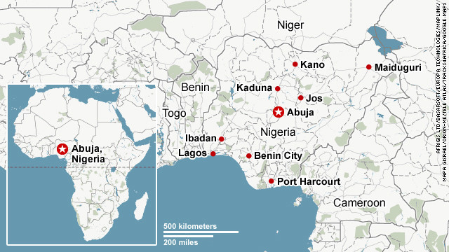 Nigeria map