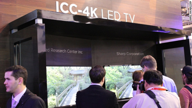The 4K-resolution TV sets look gorgeous, especially on large monitors. The problem is that most movies aren't delivered in the 4,000-pixel format. Still, electronics companies like Sharp are demonstrating that the technology for 4K sets exists.
