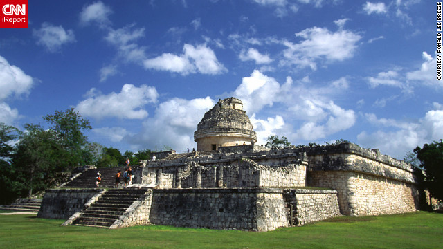 "Ronald Lee Breeze took this photo of El Caracol, The Snail, Mayan celestial observatory. ""I traveled throughout the Yucatan in 2005 starting in Merida and visiting Dzibilchaltun, Chichinitza, Uxmal and Tulum. I traveled to learn more about the history of the Maya."""