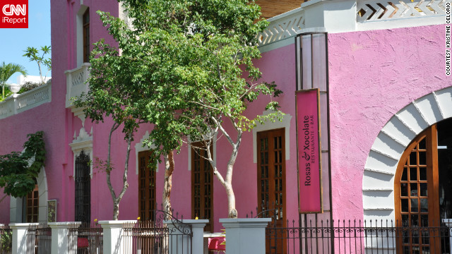&quot;The colonial street of Paseo de Montejo in Merida is full of magnificent and colorful buildings of a time gone by,&quot; Kristine Celorio said of this photo. &quot;But there is none quite as colorful as this hot pink restaurant which pops against the bright blue sky.&quot;