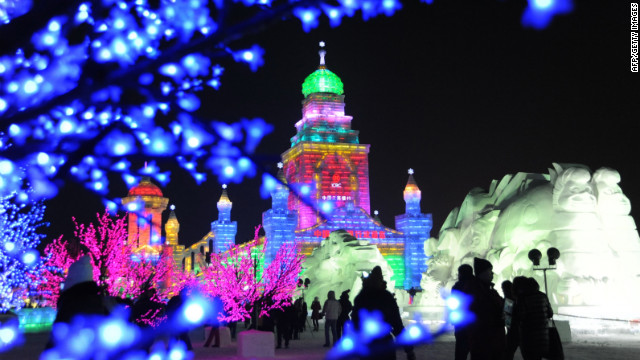 Ice isn't much fun on the road, but add new shapes and bright lights to the ethereal frozen stuff and you have a festival on your hands. Each year the northeastern China city of Harbin hosts an Ice and Snow Festival featuring jaw-dropping frozen creations.