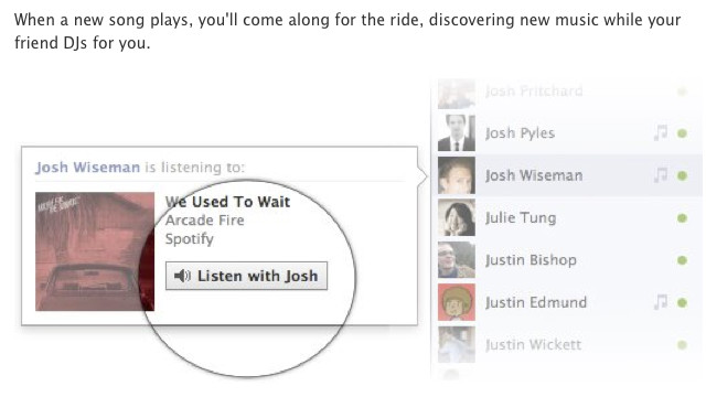 New feature turns Facebook friends into DJs