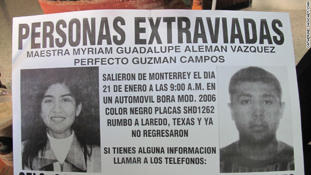 In addition to information about his son's case, Alfonso Moreno keeps pictures and descriptions of others who disappeared the same way, driving on highways near the northern city of Monterrey. He knows their stories as well as his son's. Off the top of his head, he can rattle off the dates they went missing.